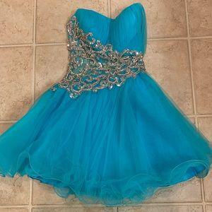 Blue beaded Jovani dress